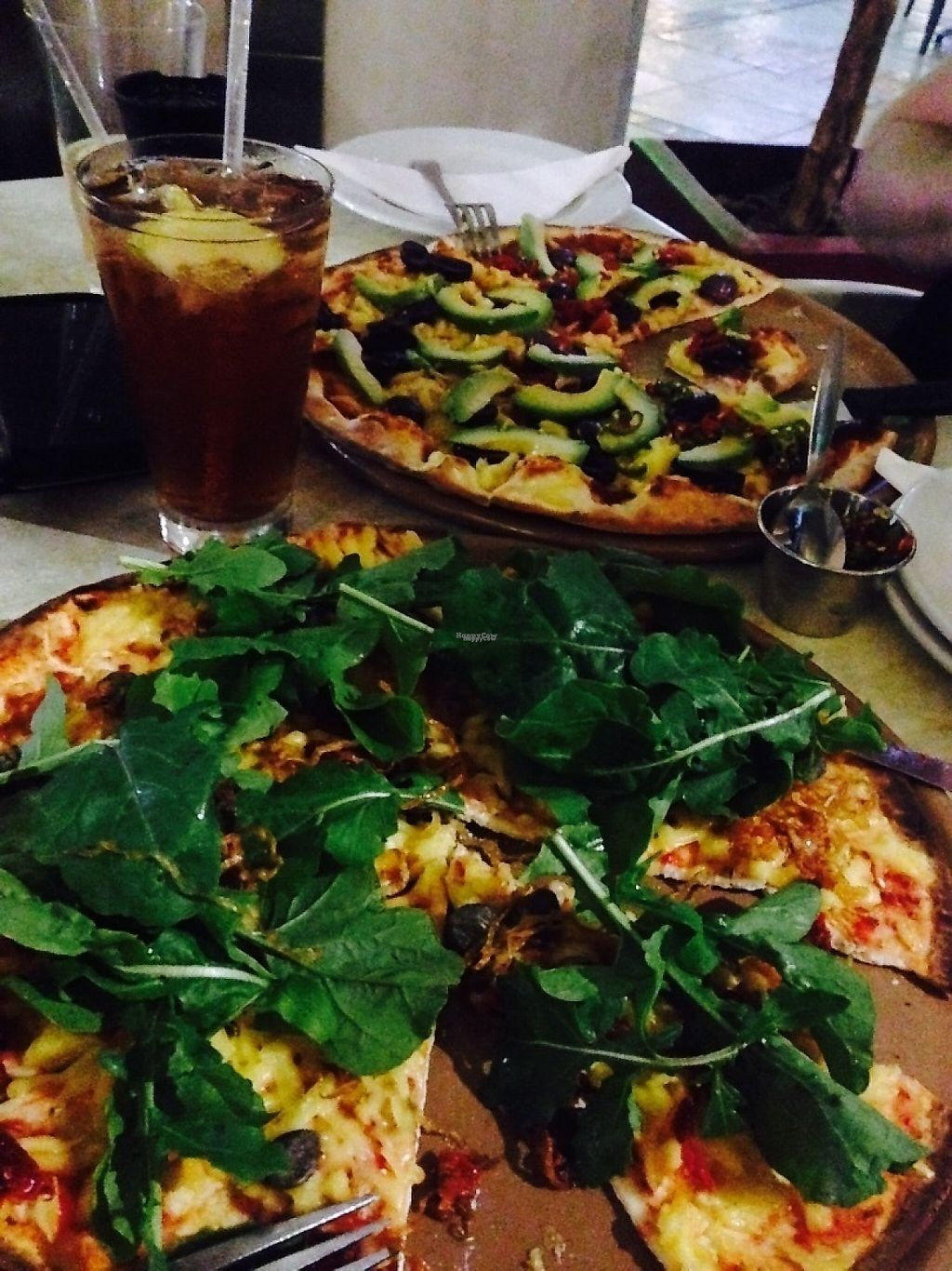 "Photo of Col' Cacchio Pizzeria  by <a href=""/members/profile/Nicole%20Hein"">Nicole Hein</a> <br/>Col'Cacchio vegan Margarita with added toppings <br/> November 24, 2016  - <a href='/contact/abuse/image/83092/193871'>Report</a>"