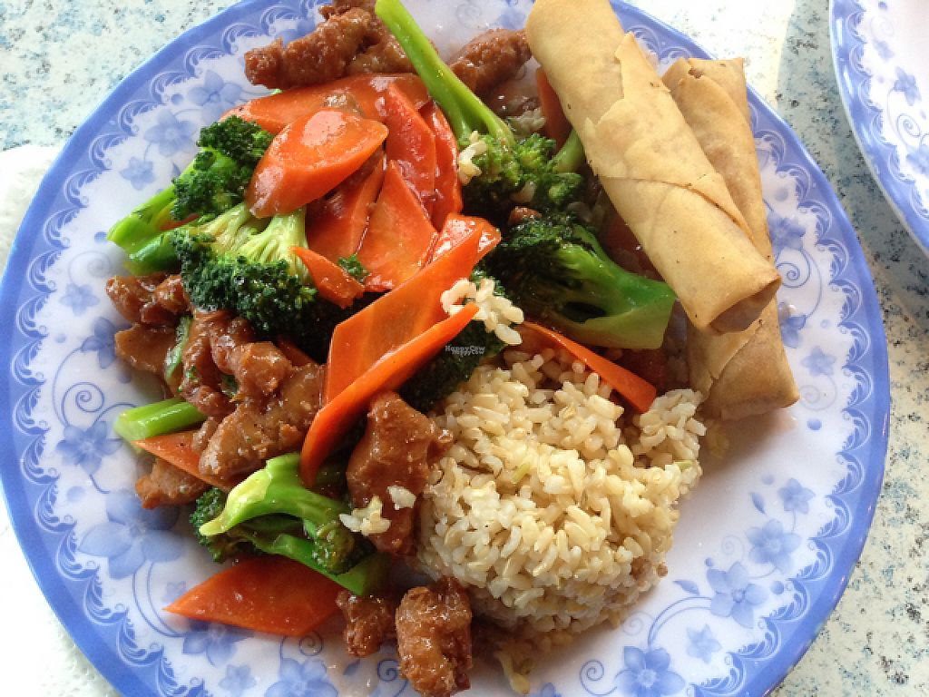 """Photo of Emmy's Vege House  by <a href=""""/members/profile/BriannaBorg-Smith"""">BriannaBorg-Smith</a> <br/>sweet and sour  with spring rolls <br/> January 20, 2017  - <a href='/contact/abuse/image/8310/213649'>Report</a>"""