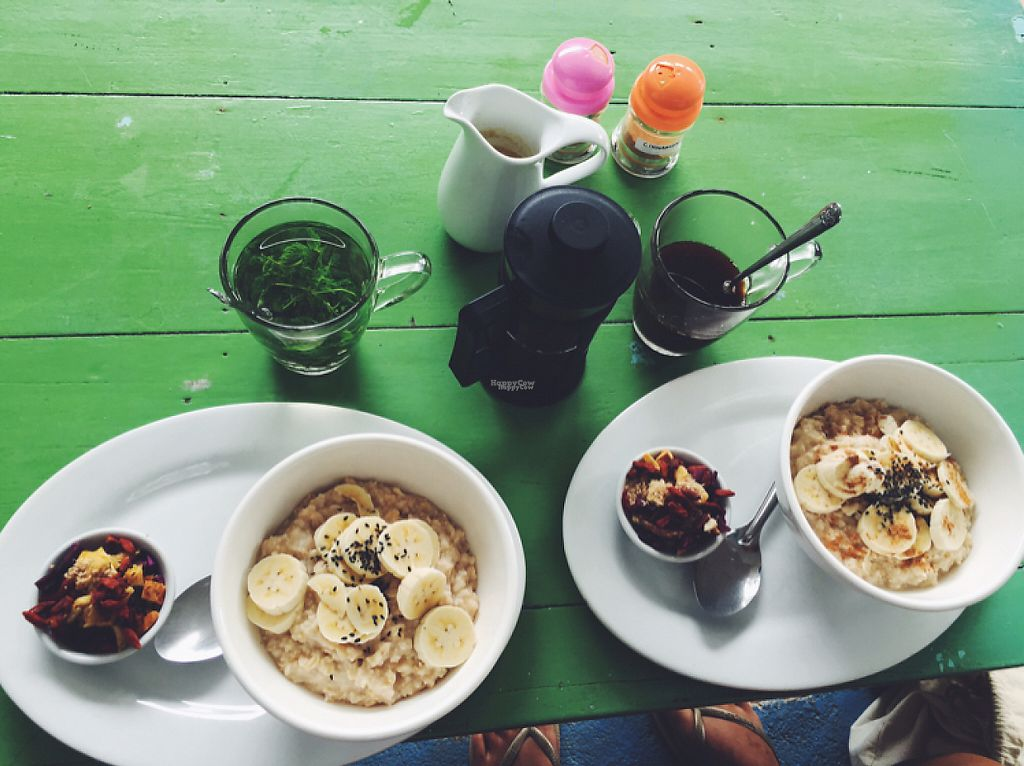 """Photo of Peace Food Cafe  by <a href=""""/members/profile/christinabnk"""">christinabnk</a> <br/>yummy porridge with banana and superfoods! <br/> December 13, 2016  - <a href='/contact/abuse/image/83116/200522'>Report</a>"""
