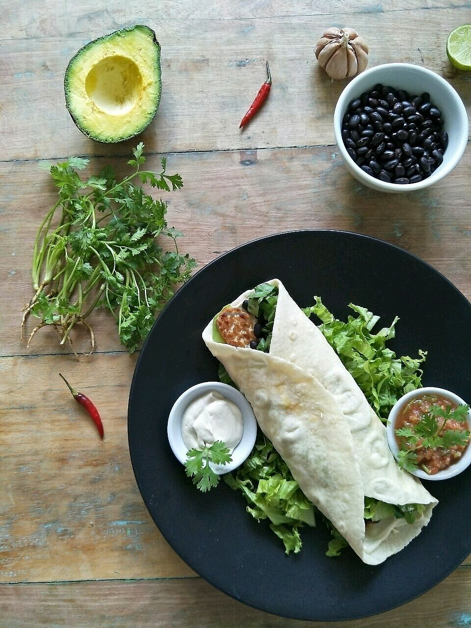 """Photo of Peace Food Cafe  by <a href=""""/members/profile/NeleTa"""">NeleTa</a> <br/>breakfast burrito with tempeh!  <br/> December 5, 2017  - <a href='/contact/abuse/image/83116/332417'>Report</a>"""