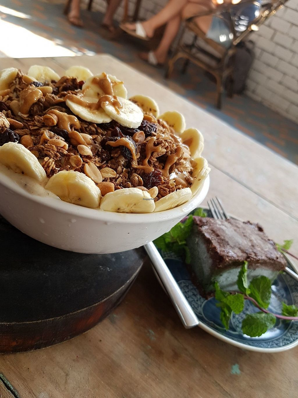 """Photo of Peace Food Cafe  by <a href=""""/members/profile/vegatleticas"""">vegatleticas</a> <br/>Peanut banana smoothie bowl ? <br/> February 22, 2018  - <a href='/contact/abuse/image/83116/362429'>Report</a>"""