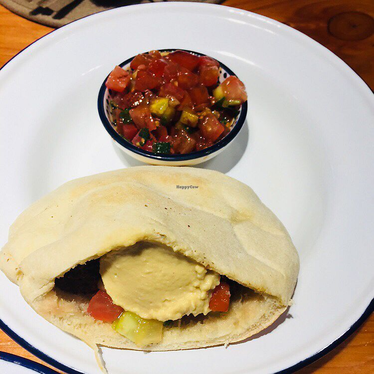 "Photo of Chickpea  by <a href=""/members/profile/Hettie4Fun"">Hettie4Fun</a> <br/>Pita quinoa falafel met tomatensalsa <br/> December 30, 2017  - <a href='/contact/abuse/image/83130/340836'>Report</a>"