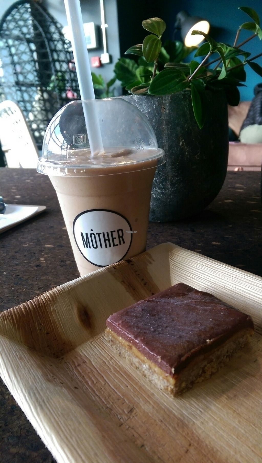 """Photo of MOTHER - Juice Works  by <a href=""""/members/profile/Melissaj1990"""">Melissaj1990</a> <br/>Smoothie and raw slice <br/> December 4, 2016  - <a href='/contact/abuse/image/83205/197325'>Report</a>"""