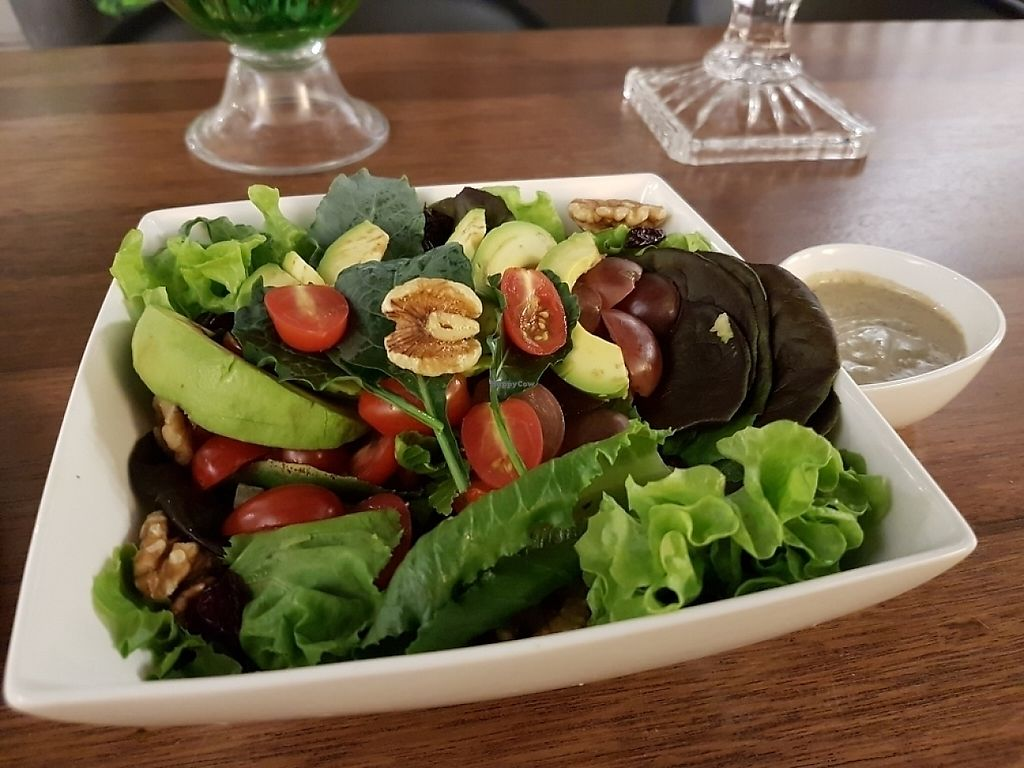 """Photo of Pinxin Vegan Cuisine  by <a href=""""/members/profile/Miroslav"""">Miroslav</a> <br/>salad made with LOVE!! <br/> May 26, 2017  - <a href='/contact/abuse/image/83210/262572'>Report</a>"""