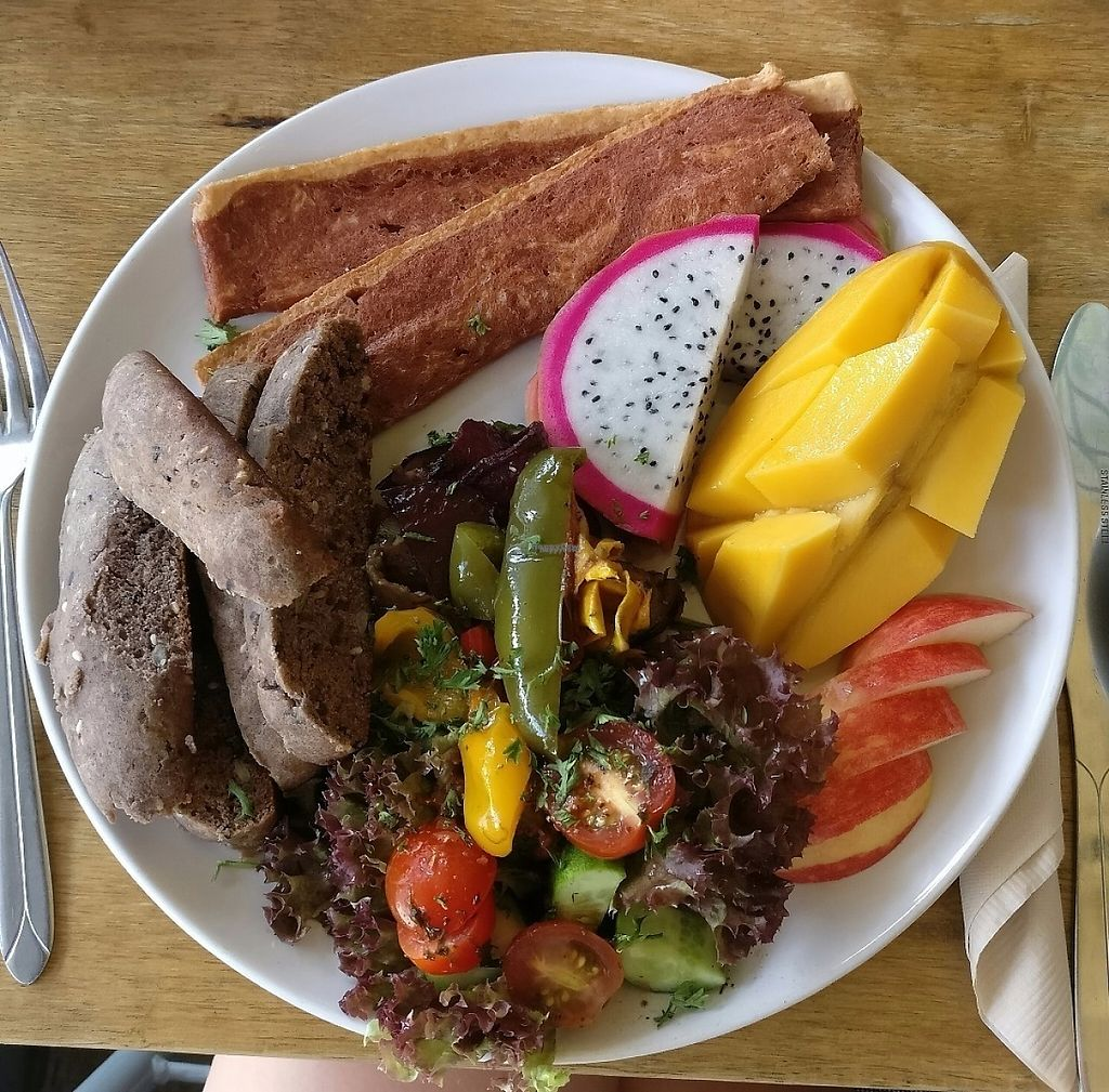 """Photo of CLOSED: Chomp Cafe  by <a href=""""/members/profile/AmyBoulert"""">AmyBoulert</a> <br/>Vegan breakfast at Chomp!  <br/> November 28, 2016  - <a href='/contact/abuse/image/83211/195374'>Report</a>"""