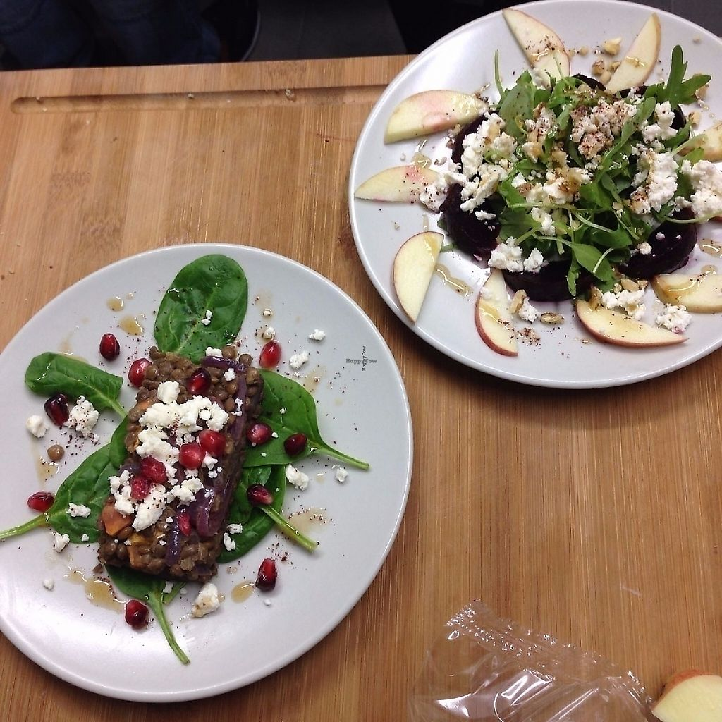 """Photo of 90 Degree Melt  by <a href=""""/members/profile/NidhiSharma"""">NidhiSharma</a> <br/>Delicious Salads - Roasted Lentil and squash and beetroot and Apple Salads <br/> December 4, 2016  - <a href='/contact/abuse/image/83214/325726'>Report</a>"""