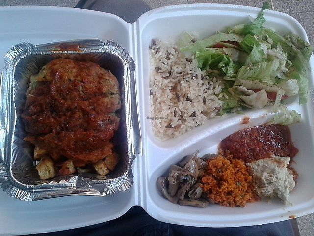 """Photo of Fez Food  by <a href=""""/members/profile/deadpledge"""">deadpledge</a> <br/>Vegan Iskender <br/> August 16, 2017  - <a href='/contact/abuse/image/83215/293298'>Report</a>"""