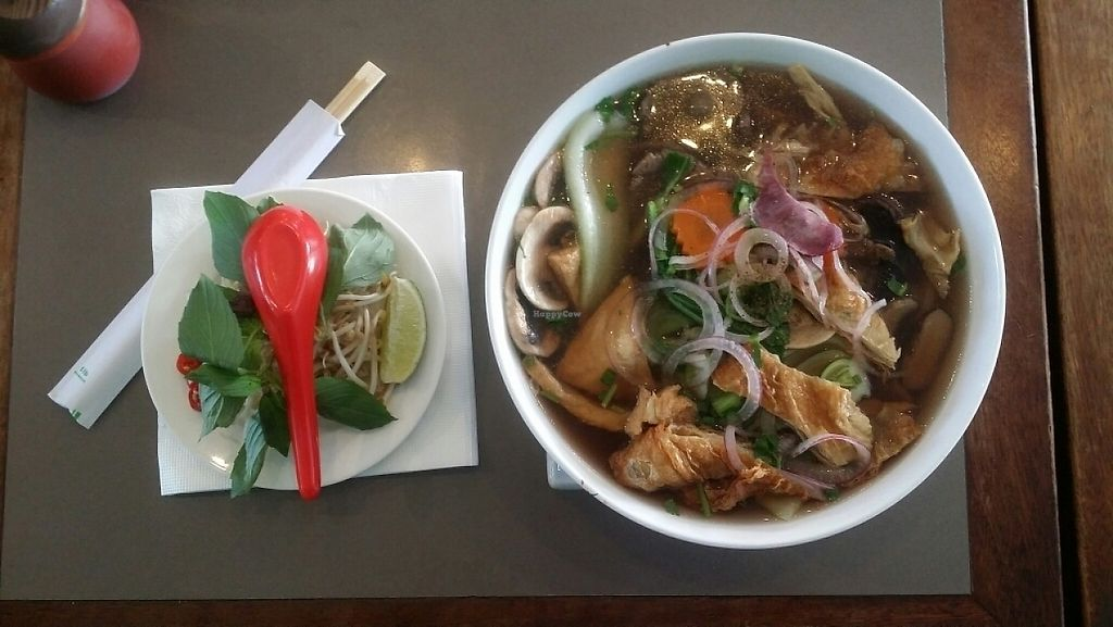 """Photo of Cafe O Mai  by <a href=""""/members/profile/Mike%20Munsie"""">Mike Munsie</a> <br/>vegan pho <br/> May 23, 2017  - <a href='/contact/abuse/image/83223/261590'>Report</a>"""