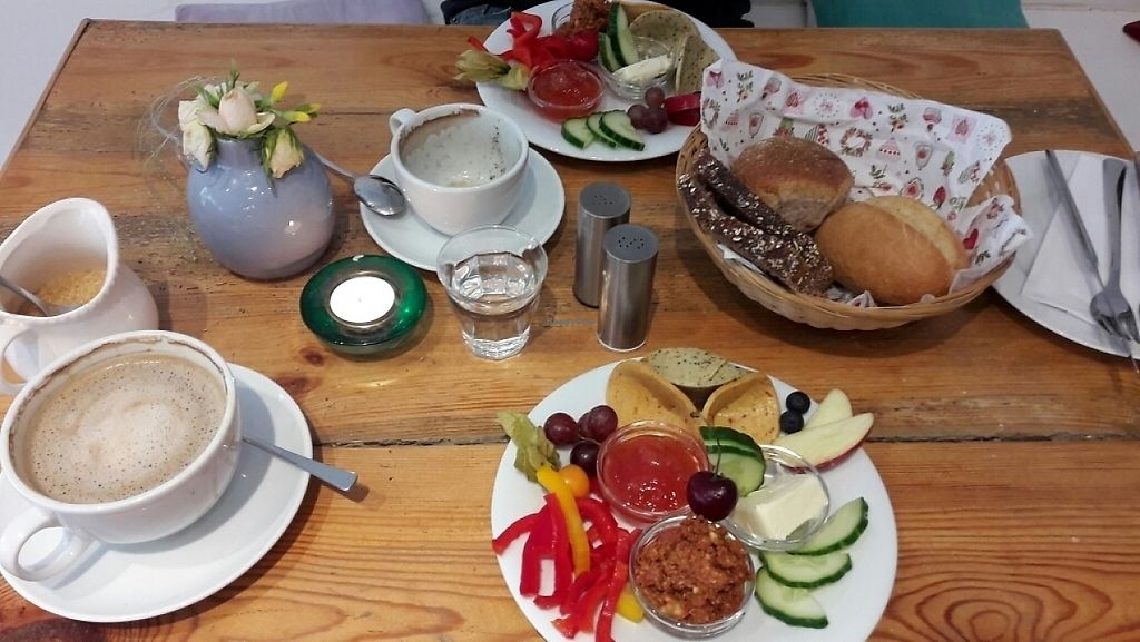 "Photo of Cafe Con Amore  by <a href=""/members/profile/coi"">coi</a> <br/>Vegan breakfast with fruits and raw vegetables <br/> June 6, 2017  - <a href='/contact/abuse/image/83232/266392'>Report</a>"