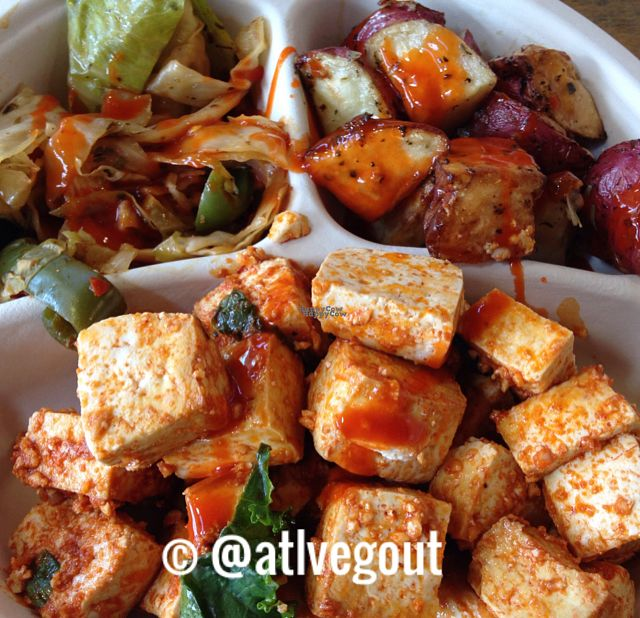 """Photo of Whole Foods Market  by <a href=""""/members/profile/calamaestra"""">calamaestra</a> <br/>vegan buffalo tofu, spicy cabbage and potatoes <br/> October 18, 2016  - <a href='/contact/abuse/image/8323/182840'>Report</a>"""