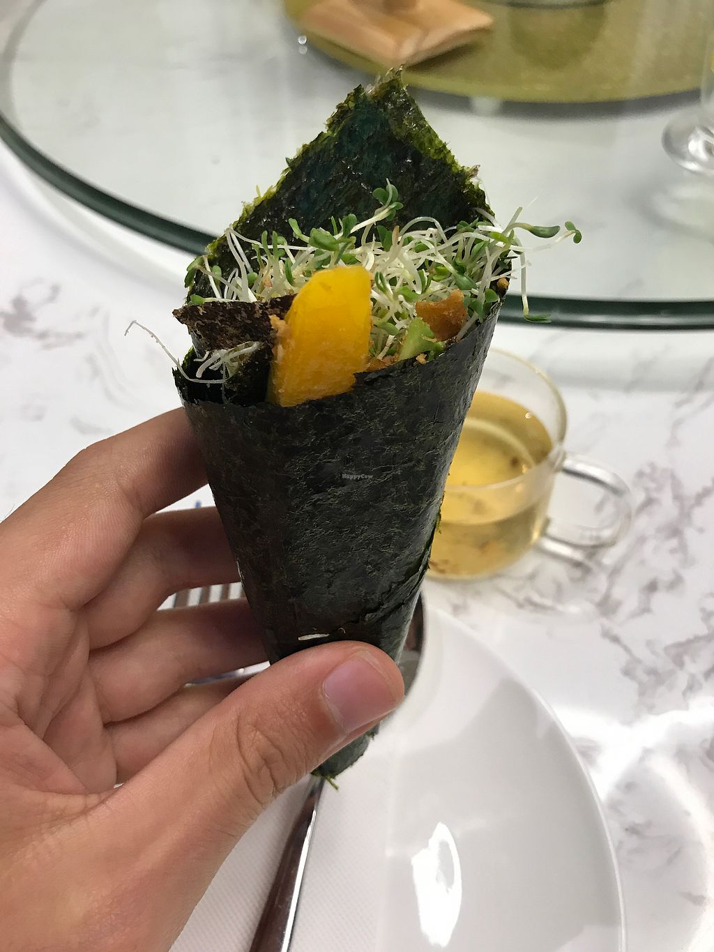 """Photo of Leisurely Veggie  by <a href=""""/members/profile/oskeewowwow"""">oskeewowwow</a> <br/>veganized hand roll <br/> June 25, 2017  - <a href='/contact/abuse/image/83243/273199'>Report</a>"""