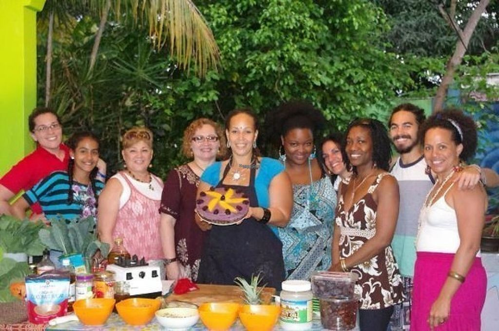 """Photo of Vibrate Higher Wellness Vacation  by <a href=""""/members/profile/SkaiDavis"""">SkaiDavis</a> <br/>learning about raw foods <br/> November 27, 2016  - <a href='/contact/abuse/image/83247/195253'>Report</a>"""