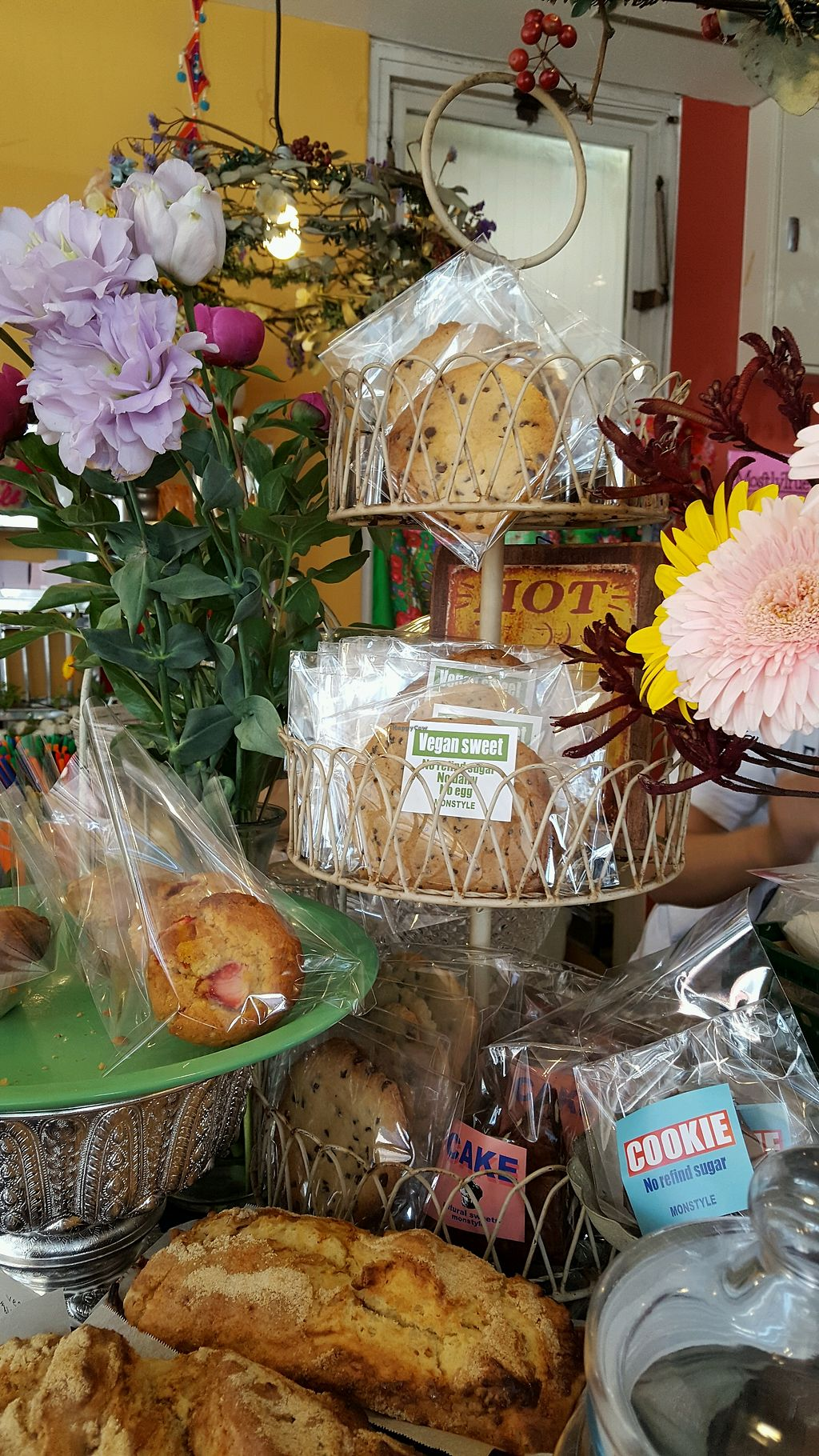 """Photo of Monstyle  by <a href=""""/members/profile/MelissaBlevens"""">MelissaBlevens</a> <br/>Vegan sweets and bakery goods clearly labeled. There were chocolate chip cookies today <br/> April 20, 2018  - <a href='/contact/abuse/image/83253/388339'>Report</a>"""