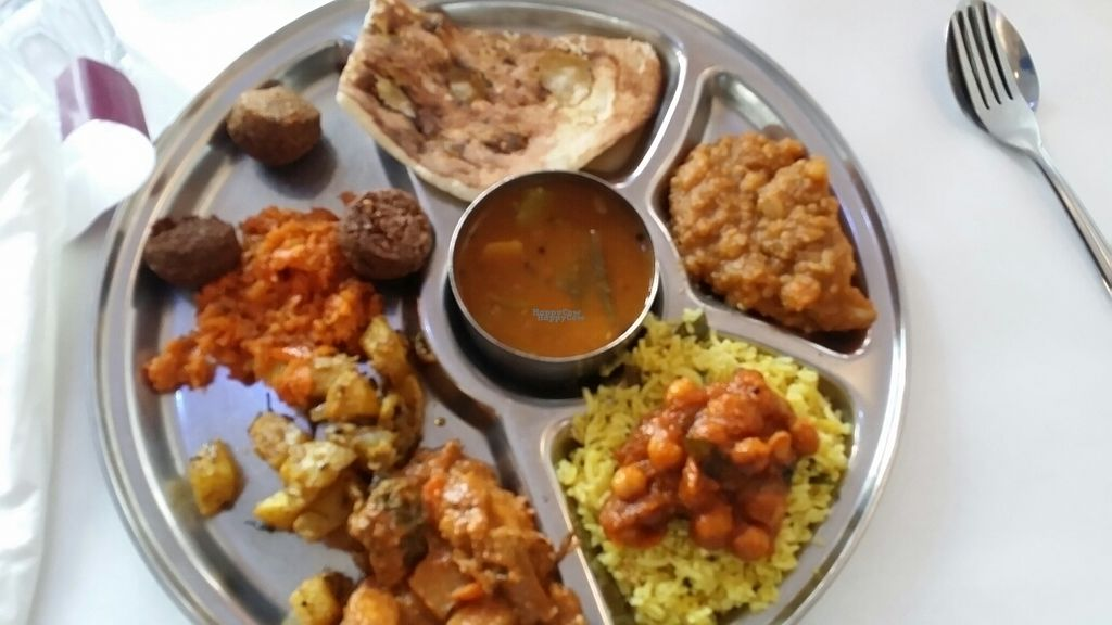 """Photo of Udipi Cafe  by <a href=""""/members/profile/maltinej"""">maltinej</a> <br/>Lunch buffet  <br/> September 3, 2016  - <a href='/contact/abuse/image/8325/173324'>Report</a>"""