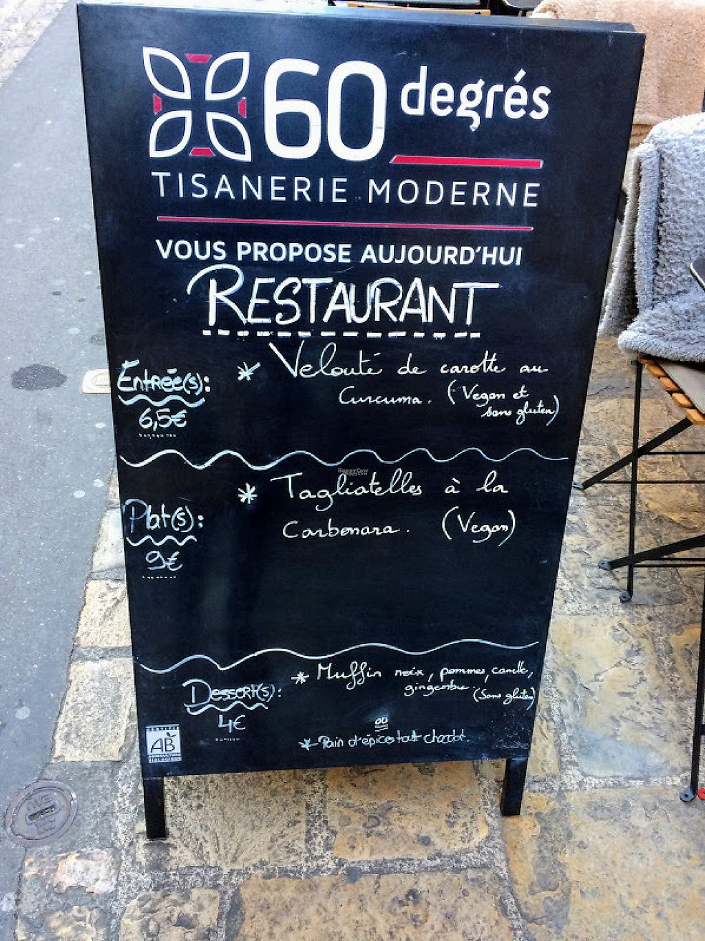 "Photo of 60 Degres Tisanerie Moderne  by <a href=""/members/profile/sophiecow"">sophiecow</a> <br/>Menu Board, 16 January 2017 <br/> January 29, 2017  - <a href='/contact/abuse/image/83263/218884'>Report</a>"