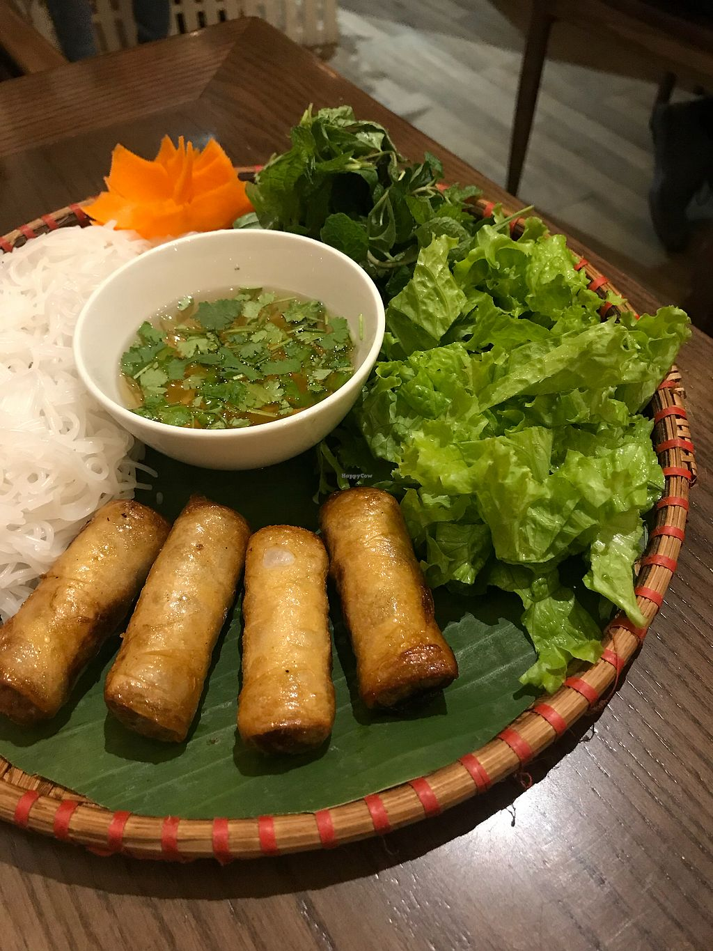 """Photo of Minh Chay - Hang Gai  by <a href=""""/members/profile/vegetariangirl"""">vegetariangirl</a> <br/>Spring rolls <br/> January 14, 2018  - <a href='/contact/abuse/image/83266/346431'>Report</a>"""