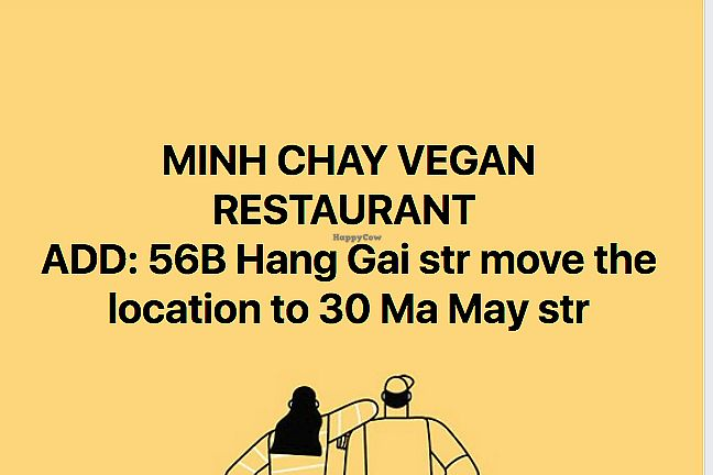 """Photo of Minh Chay - Hang Gai  by <a href=""""/members/profile/TrangThuy"""">TrangThuy</a> <br/>MINH CHAY VEGAN RESTAURANT  ADD: 56B Hang Gai str move the location to 30 Ma May str <br/> May 20, 2018  - <a href='/contact/abuse/image/83266/402342'>Report</a>"""