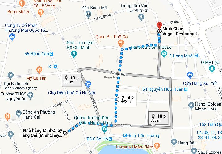 """Photo of Minh Chay - Hang Gai  by <a href=""""/members/profile/TrangThuy"""">TrangThuy</a> <br/>MINH CHAY VEGAN RESTAURANT  ADD: 56B Hang Gai str move the location to 30 Ma May str <br/> May 20, 2018  - <a href='/contact/abuse/image/83266/402344'>Report</a>"""