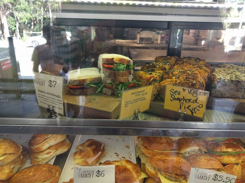 """Photo of Suffolk Park Bakery  by <a href=""""/members/profile/VeganSoapDude"""">VeganSoapDude</a> <br/>Today's vegan selection  <br/> August 12, 2017  - <a href='/contact/abuse/image/83277/292117'>Report</a>"""