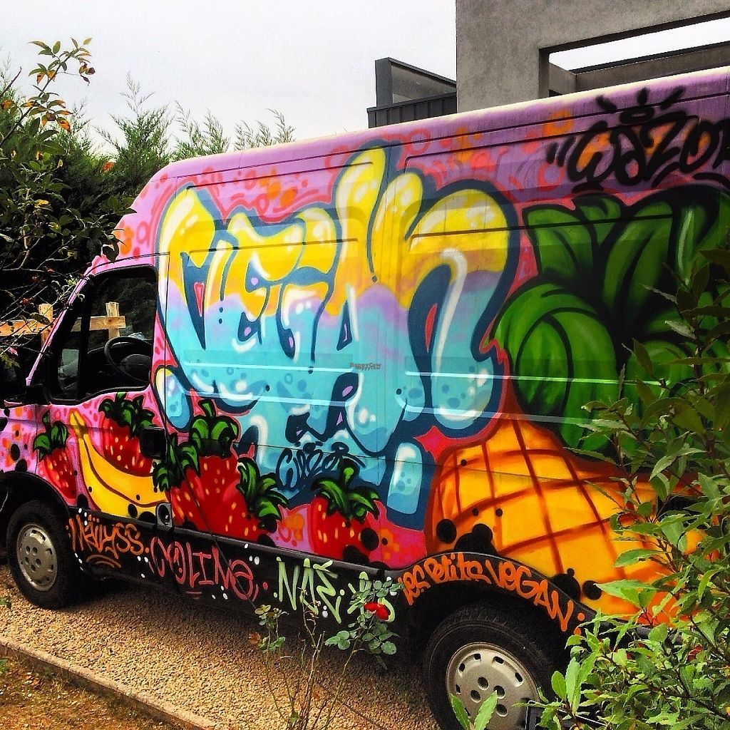 """Photo of Vegan Truck  by <a href=""""/members/profile/PaulMnd"""">PaulMnd</a> <br/>Graphiti face 1 <br/> November 28, 2016  - <a href='/contact/abuse/image/83288/195363'>Report</a>"""