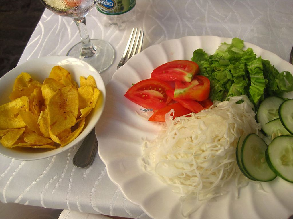 """Photo of Dona Eutimia  by <a href=""""/members/profile/Babette"""">Babette</a> <br/>Salad and plantain chips <br/> December 1, 2016  - <a href='/contact/abuse/image/83302/196117'>Report</a>"""