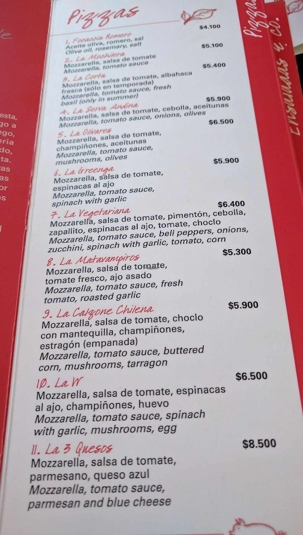 """Photo of Mesita Grande  by <a href=""""/members/profile/LoretoFlores"""">LoretoFlores</a> <br/>They have eleven Vegetarian pizza options <br/> December 1, 2016  - <a href='/contact/abuse/image/83305/196100'>Report</a>"""