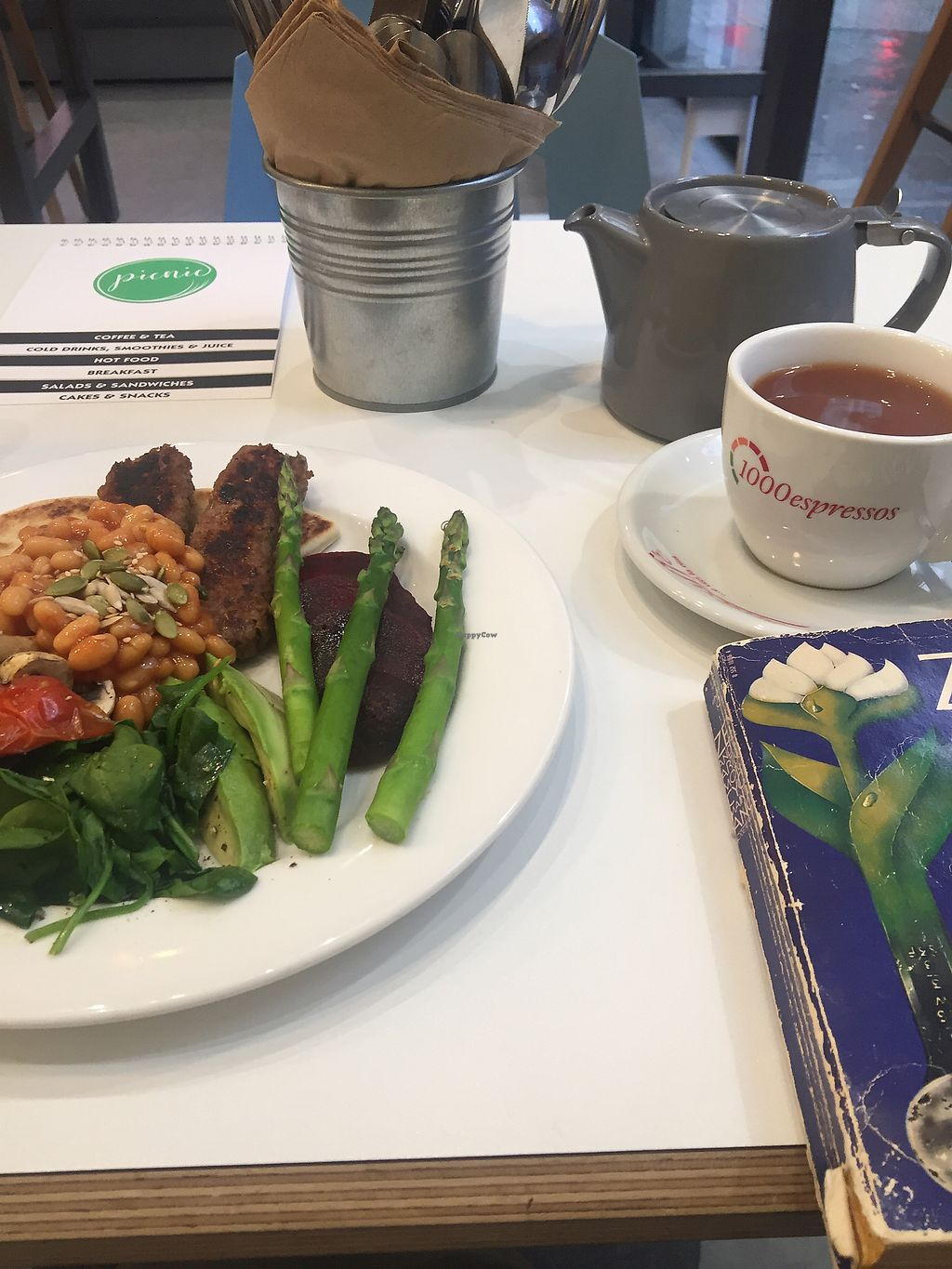 "Photo of Picnic  by <a href=""/members/profile/KellyOldham"">KellyOldham</a> <br/>Full breakfast and Irish tea with oat milk <br/> February 17, 2018  - <a href='/contact/abuse/image/83322/360271'>Report</a>"