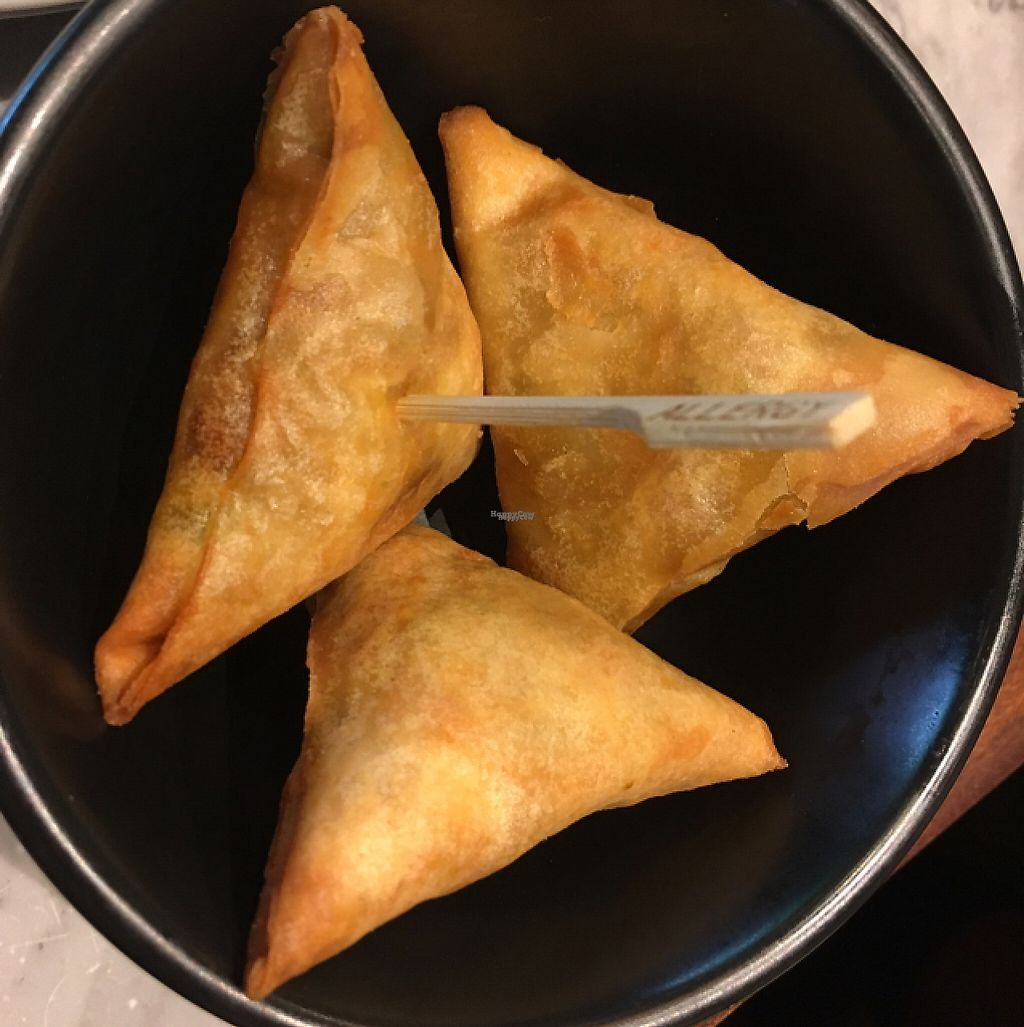 """Photo of Dishoom  by <a href=""""/members/profile/nardanddee"""">nardanddee</a> <br/>vegetable samosas <br/> December 29, 2016  - <a href='/contact/abuse/image/83368/205947'>Report</a>"""