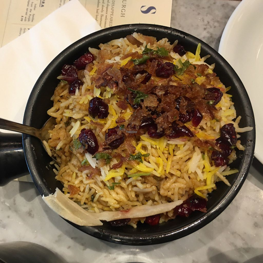 """Photo of Dishoom  by <a href=""""/members/profile/nardanddee"""">nardanddee</a> <br/>chicken biryani <br/> December 29, 2016  - <a href='/contact/abuse/image/83368/205949'>Report</a>"""