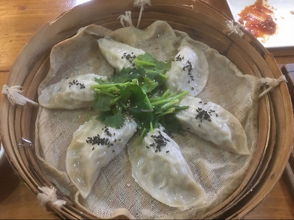 "Photo of Loving Hut  by <a href=""/members/profile/JonVeganTraveler"">JonVeganTraveler</a> <br/>Dumplings <br/> November 29, 2016  - <a href='/contact/abuse/image/83379/195836'>Report</a>"