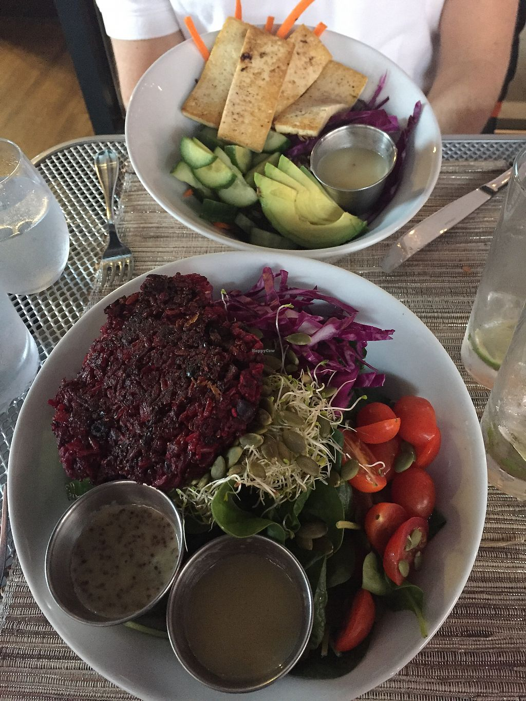 "Photo of Namastay Kitchen  by <a href=""/members/profile/EmilyCasey10"">EmilyCasey10</a> <br/>Salad bowl with beat burger, quinoa bowl with tofu  <br/> February 11, 2018  - <a href='/contact/abuse/image/83402/357851'>Report</a>"