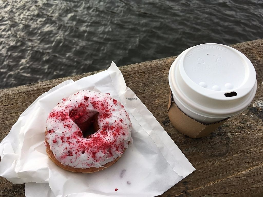 """Photo of The Rolling Donut - Dublin 1  by <a href=""""/members/profile/ImogenB"""">ImogenB</a> <br/>Breakfast coffee and doughnut deal at The Rolling Doughnut <br/> March 15, 2017  - <a href='/contact/abuse/image/83413/236756'>Report</a>"""