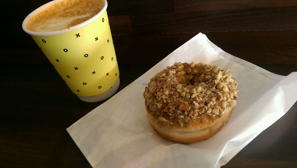 """Photo of The Rolling Donut - Dublin 1  by <a href=""""/members/profile/soffel2.0"""">soffel2.0</a> <br/>almond coffee donut! <br/> November 11, 2017  - <a href='/contact/abuse/image/83413/324332'>Report</a>"""