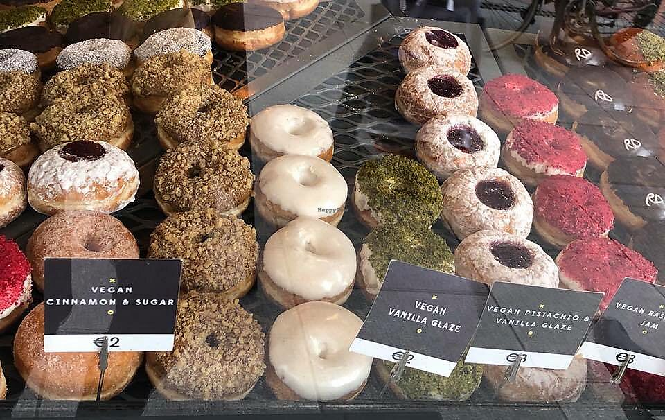 """Photo of The Rolling Donut - Dublin 1  by <a href=""""/members/profile/Sonnus"""">Sonnus</a> <br/>Yummy! Good choice of vegan donuts <br/> February 16, 2018  - <a href='/contact/abuse/image/83413/360119'>Report</a>"""