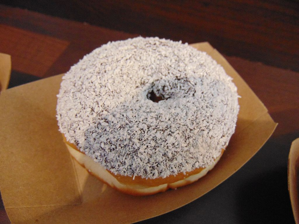 """Photo of The Rolling Donut - Dublin 1  by <a href=""""/members/profile/jennyc32"""">jennyc32</a> <br/>Vegan chocolate and coconut <br/> April 15, 2018  - <a href='/contact/abuse/image/83413/386144'>Report</a>"""
