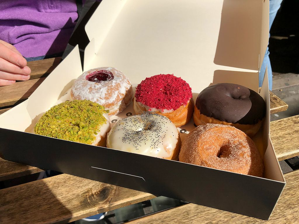 """Photo of The Rolling Donut - Dublin 1  by <a href=""""/members/profile/_hael"""">_hael</a> <br/>Some of the vegan options <br/> April 23, 2018  - <a href='/contact/abuse/image/83413/389927'>Report</a>"""