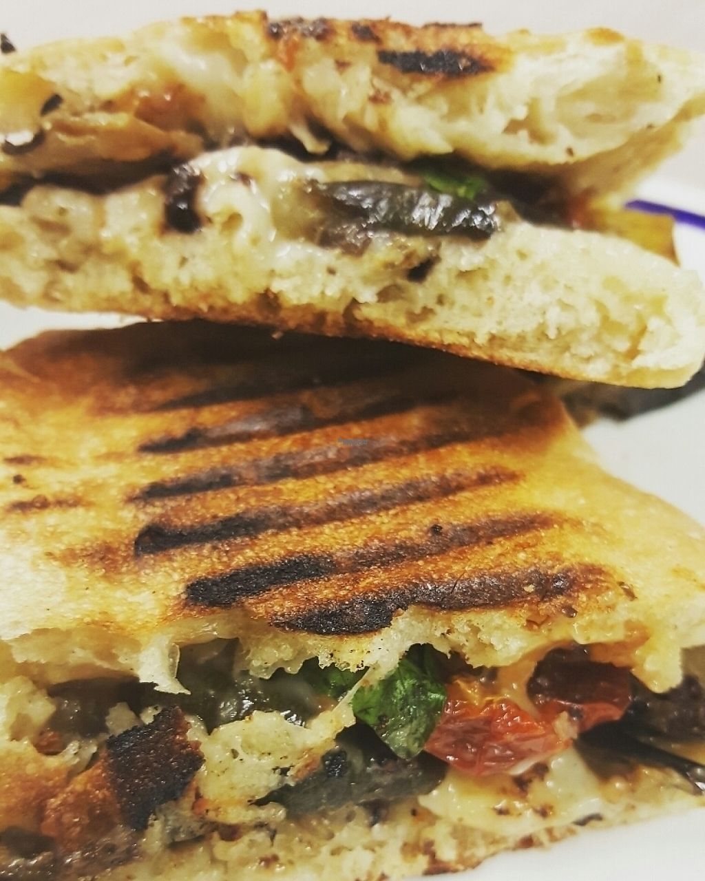 """Photo of CLOSED: Sicily to Seattle  by <a href=""""/members/profile/ramaishaya"""">ramaishaya</a> <br/>Grilled Veg Panini with vegan mozzarella, sundried tomato & garlic infused olive oil   <br/> January 10, 2017  - <a href='/contact/abuse/image/83425/210369'>Report</a>"""