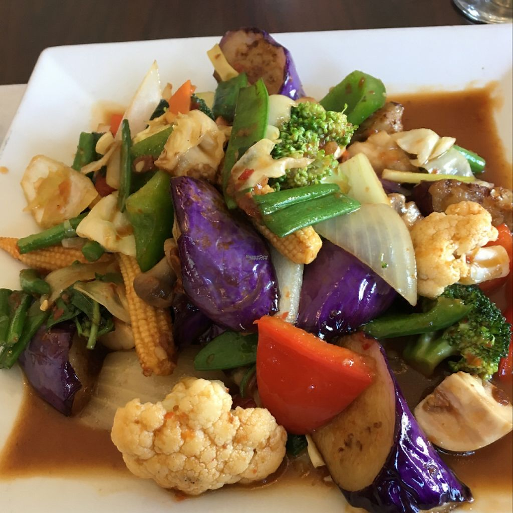"Photo of Bangkok Thai Cuisine   by <a href=""/members/profile/Mindfs"">Mindfs</a> <br/>Spicy Thai Eggplant with vegetables <br/> April 15, 2017  - <a href='/contact/abuse/image/83432/248409'>Report</a>"