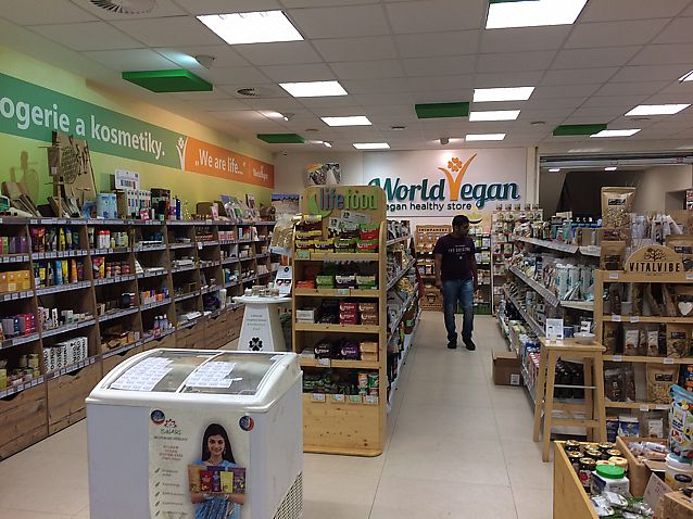 "Photo of World Vegan  by <a href=""/members/profile/Dancingbarefoot"">Dancingbarefoot</a> <br/>half the store <br/> July 25, 2017  - <a href='/contact/abuse/image/83438/284630'>Report</a>"