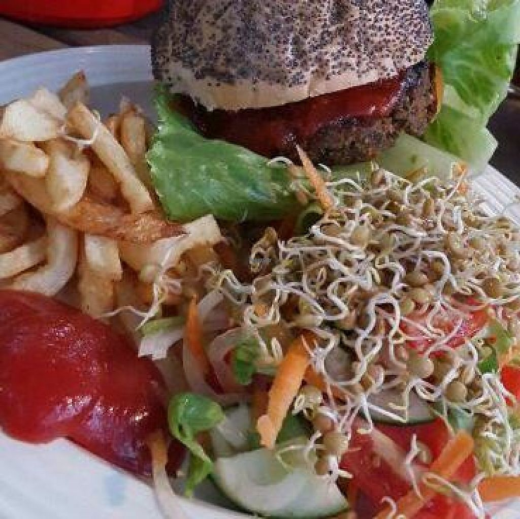 """Photo of Vegan To Order  by <a href=""""/members/profile/SavannahBach"""">SavannahBach</a> <br/>Vegan burger  <br/> November 30, 2016  - <a href='/contact/abuse/image/83464/196060'>Report</a>"""