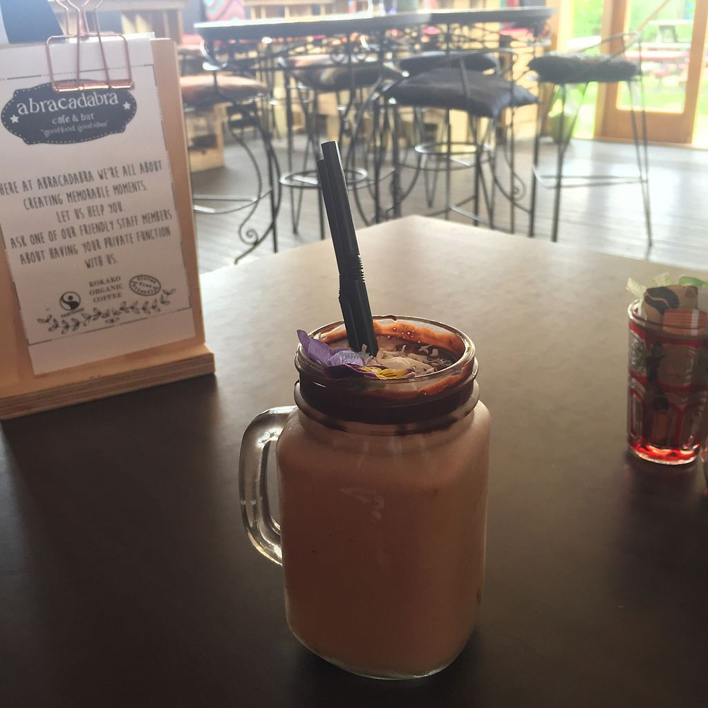 "Photo of Abracadabra Cafe & Bar  by <a href=""/members/profile/altricial"">altricial</a> <br/>coconut iced chocolate  <br/> December 1, 2016  - <a href='/contact/abuse/image/83470/196115'>Report</a>"