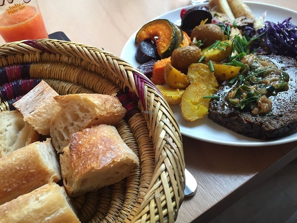 """Photo of Le Faitout Vegan  by <a href=""""/members/profile/EddyNumbskull"""">EddyNumbskull</a> <br/>Steak and Potatoes <br/> February 8, 2017  - <a href='/contact/abuse/image/83489/224115'>Report</a>"""