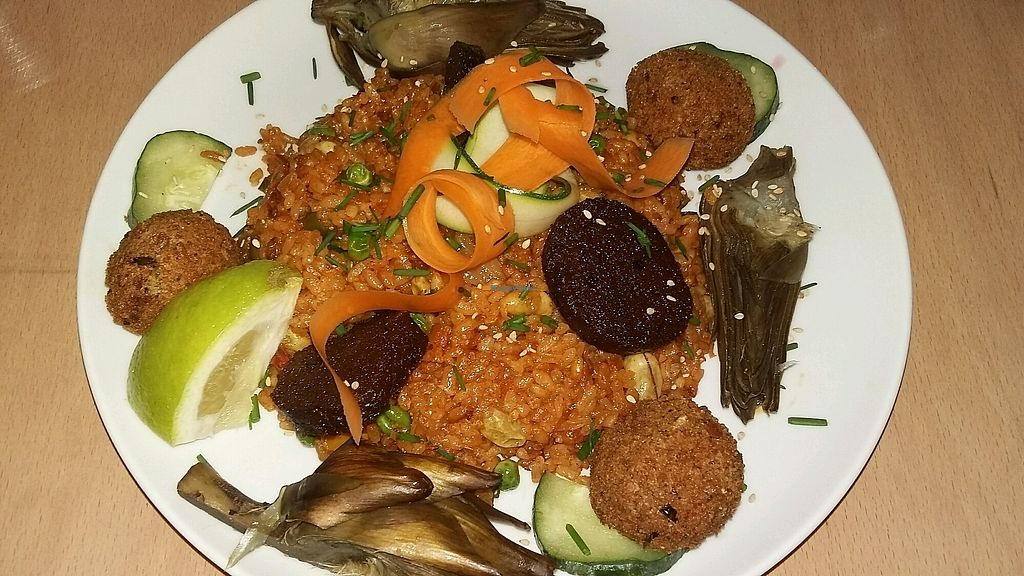 """Photo of Le Faitout Vegan  by <a href=""""/members/profile/Pilou"""">Pilou</a> <br/>Paella <br/> July 22, 2017  - <a href='/contact/abuse/image/83489/283322'>Report</a>"""