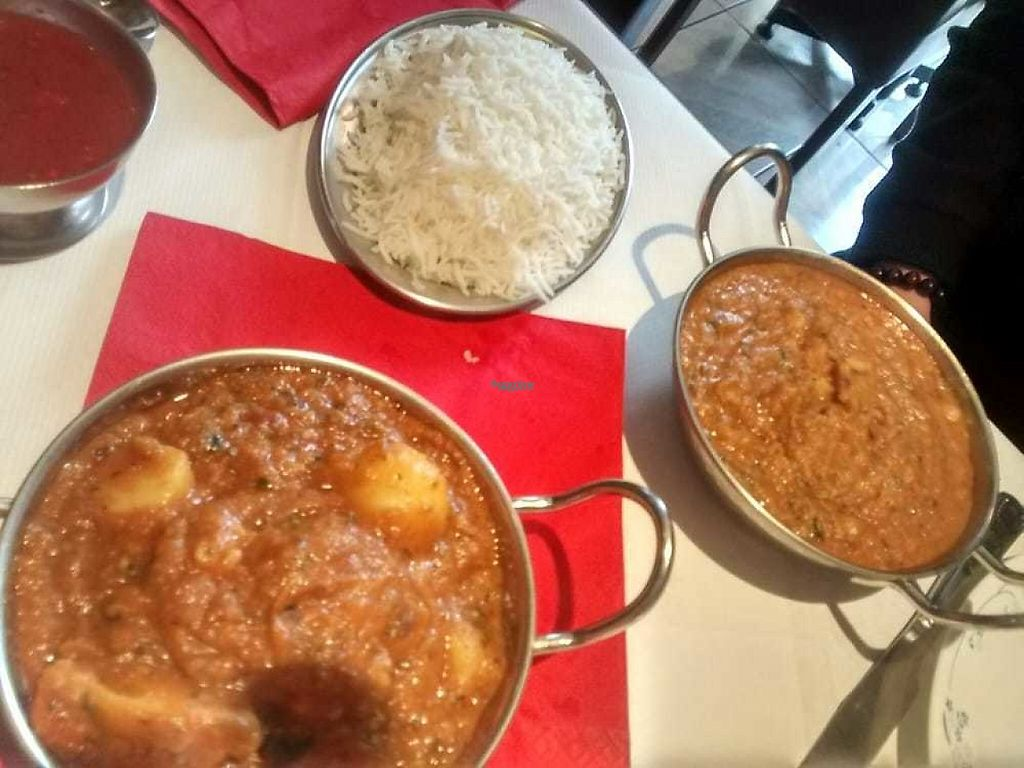 """Photo of India Pavilion  by <a href=""""/members/profile/TrixieFirecracker"""">TrixieFirecracker</a> <br/>Rice, tarka daal, aloo gobi <br/> December 31, 2016  - <a href='/contact/abuse/image/83501/206618'>Report</a>"""