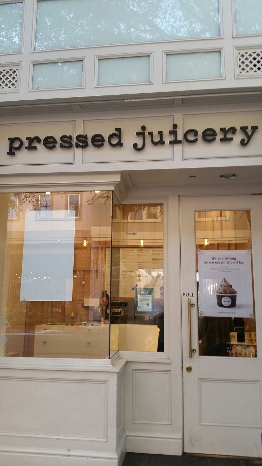 "Photo of Pressed Juicery  by <a href=""/members/profile/Conniemm"">Conniemm</a> <br/>outside <br/> December 2, 2016  - <a href='/contact/abuse/image/83503/196500'>Report</a>"