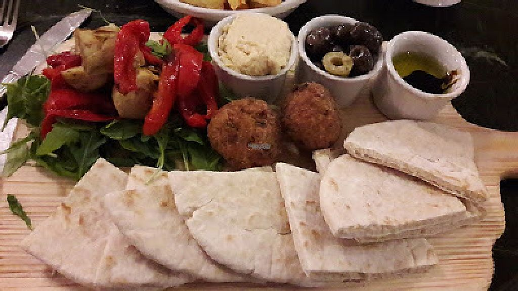 """Photo of The Emporium  by <a href=""""/members/profile/Veganolive1"""">Veganolive1</a> <br/>Houmous & Falafel Platter <br/> December 3, 2016  - <a href='/contact/abuse/image/83510/196848'>Report</a>"""