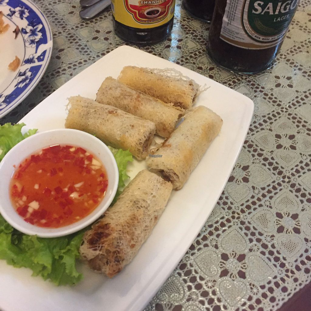 """Photo of Ho Lo Quan  by <a href=""""/members/profile/peetroxy"""">peetroxy</a> <br/>Veggie spring rolls <br/> April 16, 2017  - <a href='/contact/abuse/image/83543/249160'>Report</a>"""