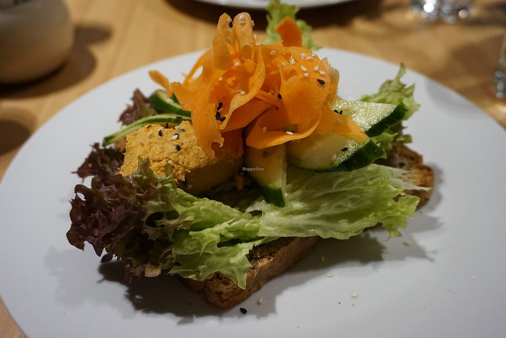 """Photo of Holy Cow  by <a href=""""/members/profile/angdep"""">angdep</a> <br/>Ethiopian Hummus sandwich on buckwheat bread <br/> January 14, 2018  - <a href='/contact/abuse/image/83562/346673'>Report</a>"""