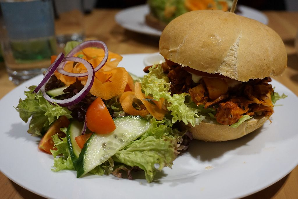 """Photo of Holy Cow  by <a href=""""/members/profile/angdep"""">angdep</a> <br/>Jackfruit burger <br/> January 14, 2018  - <a href='/contact/abuse/image/83562/346674'>Report</a>"""