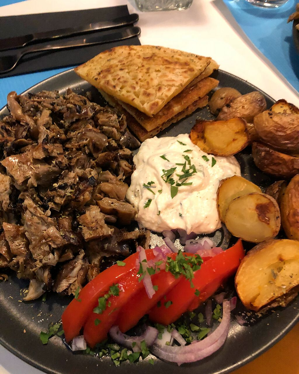 "Photo of Lime Bistro  by <a href=""/members/profile/NicklasKingo"">NicklasKingo</a> <br/>Mushroom gyros <br/> January 10, 2018  - <a href='/contact/abuse/image/83564/345145'>Report</a>"